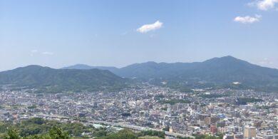 天拝山の山頂からの